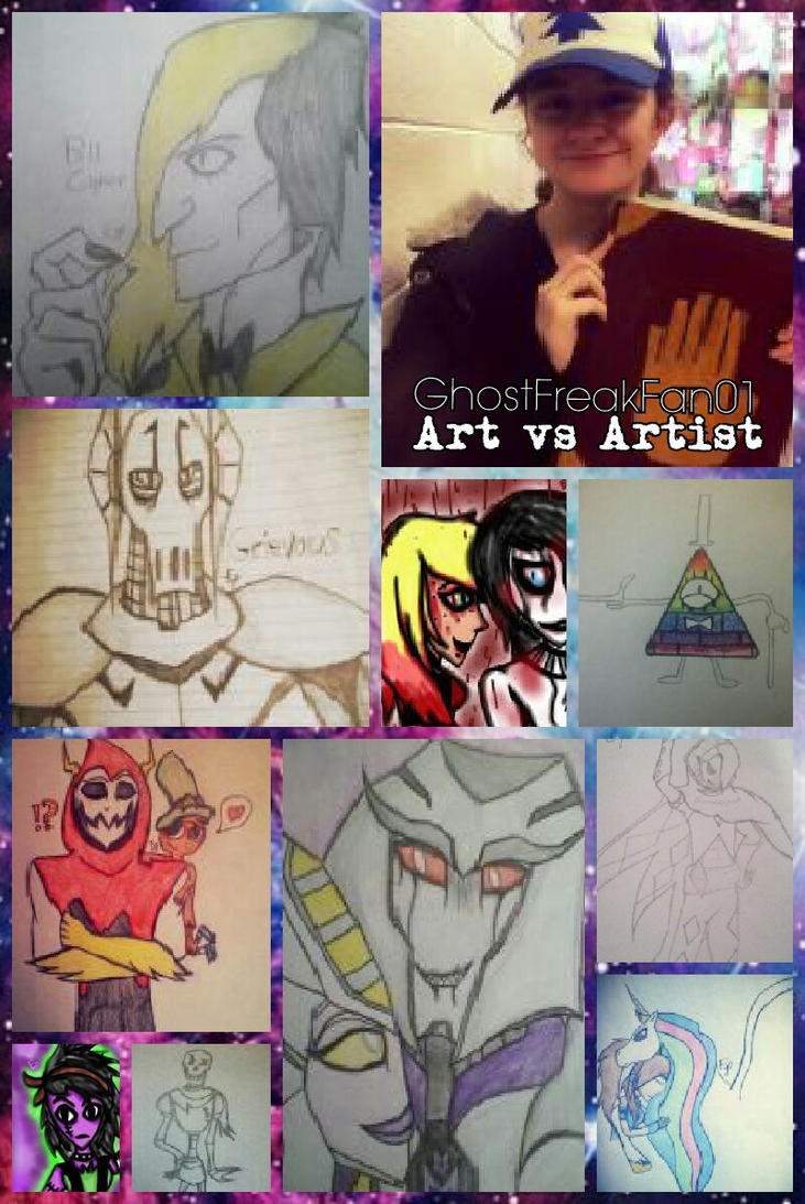 Art vs Artist by GhostFreak-Artz