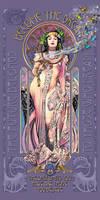 MuchaMaiden Art Nouveau Inspired Poster
