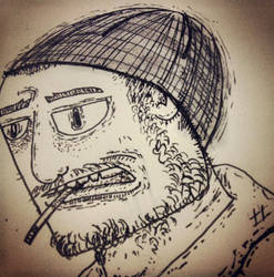Self Portrait Drawing by existential-courage
