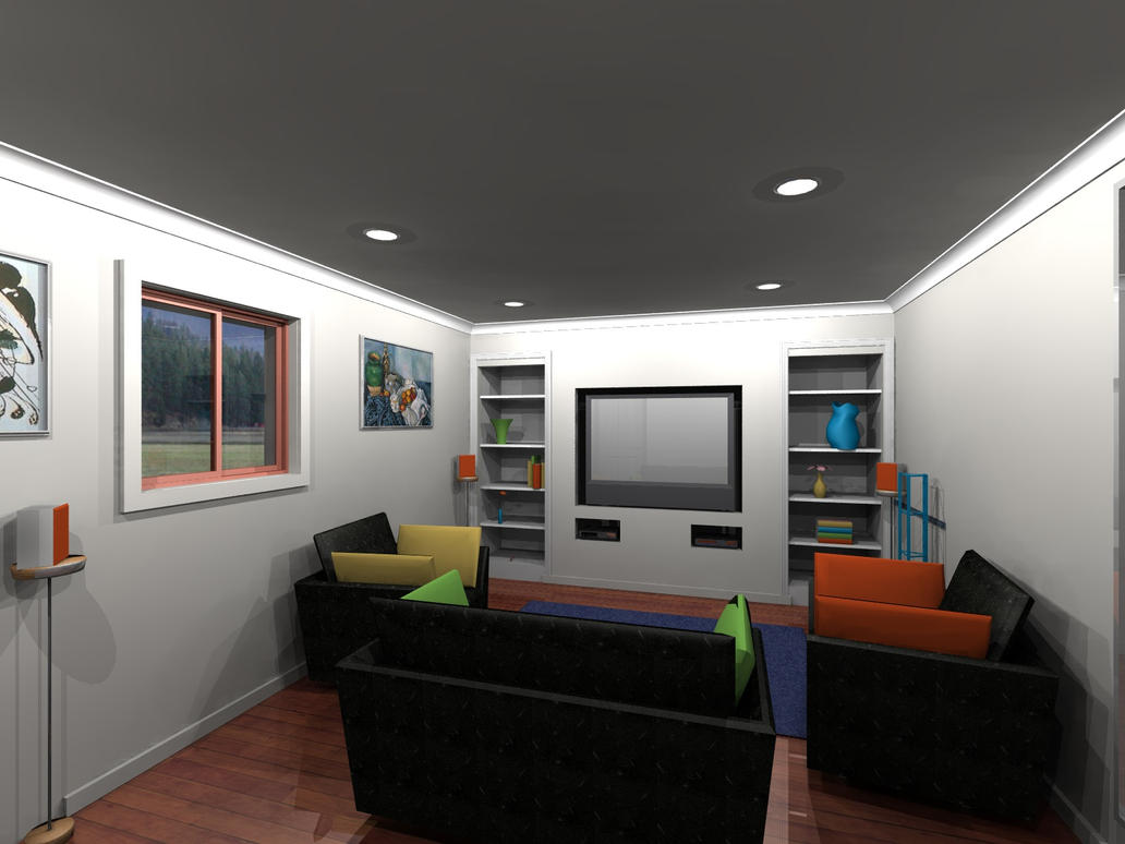 Funky living room by zeyus on deviantart for Funky living room designs