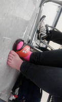 Feet in math class