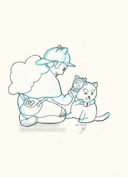 Inktober Day 16 Bee and Puppycat by Asatira