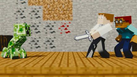 John Introduces Vane To Minecraft by Jon-The-Hillbilly