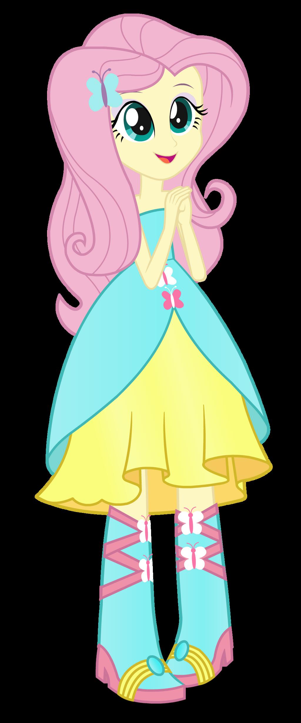 Fluttershy - ver. 2 - Equestria Girl by negasun