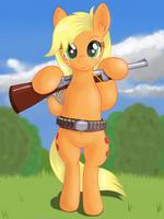 AJ with shotgun by negasun