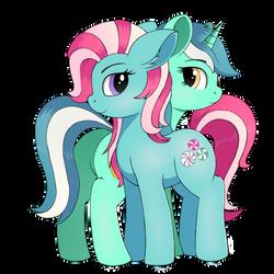 Minty and Lyra by negasun