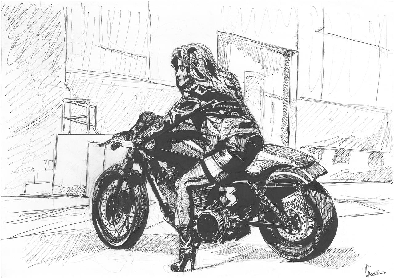 moto art. moto girl by vinceticc art