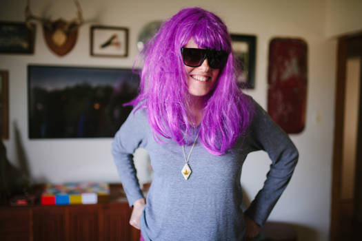 Michelle, with wig