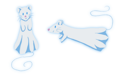 Mico the Ghost Rat by Neko-Meep