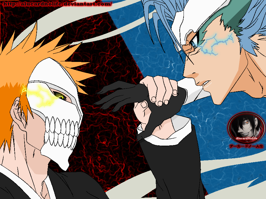 Grimmjow Jeagerjaques wallpaper probably with a sign and a fleur de lis  called Grimmjow