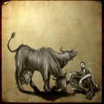 Brahmin and Farmer Fallout