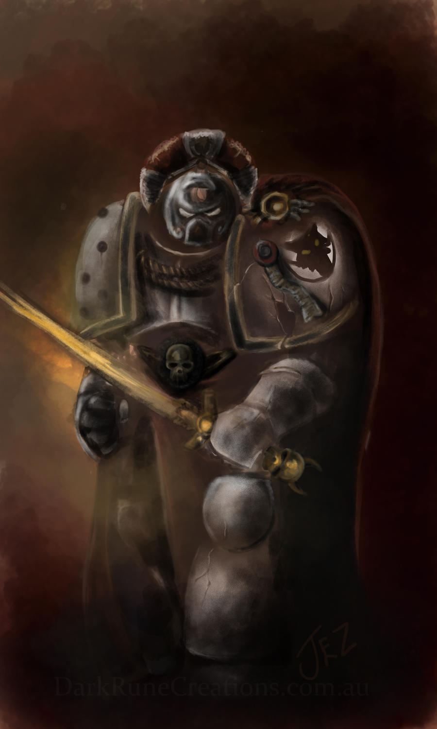 Ghost of Garviel Loken, Warhammer 40k Space Marine by jezviking