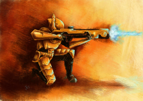 Tau warrior by jezviking