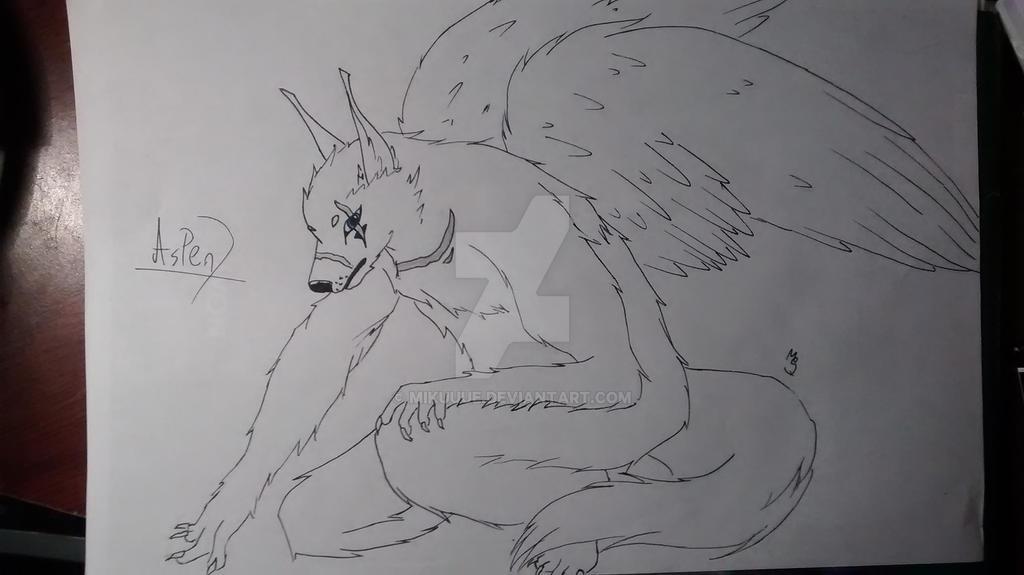 COM: Oc Aspen (furry version) by MikuuUe