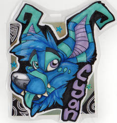 Cyan Crux Badge by Syberwolf