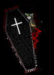 Undertaker in coffin