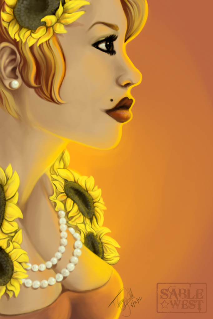 Sunflowers and Pearls by Sablewest