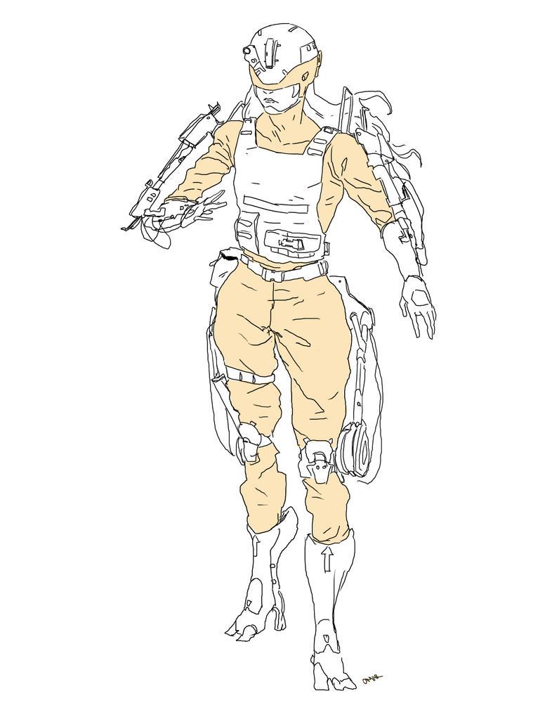 yellow ranger by Omareiden