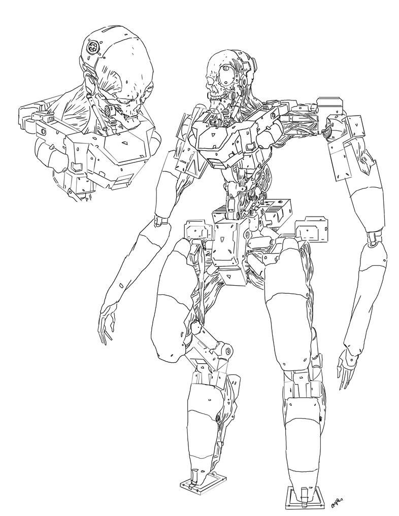some cyborg by Omareiden