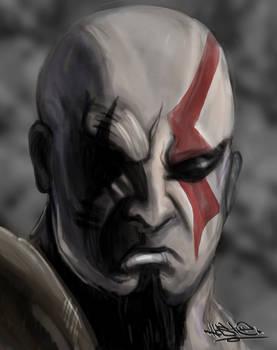Kratos sketchy-speedpaint