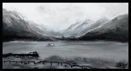 Grey Mountains - speed paint