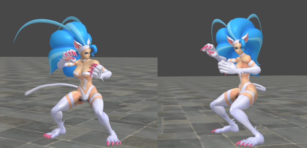 Felicia's fighting stance by Nights88