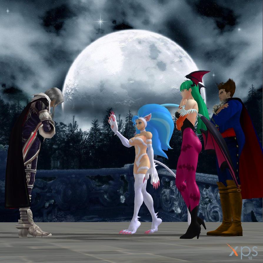 Alucard meets Darkstalkers. by Nights88