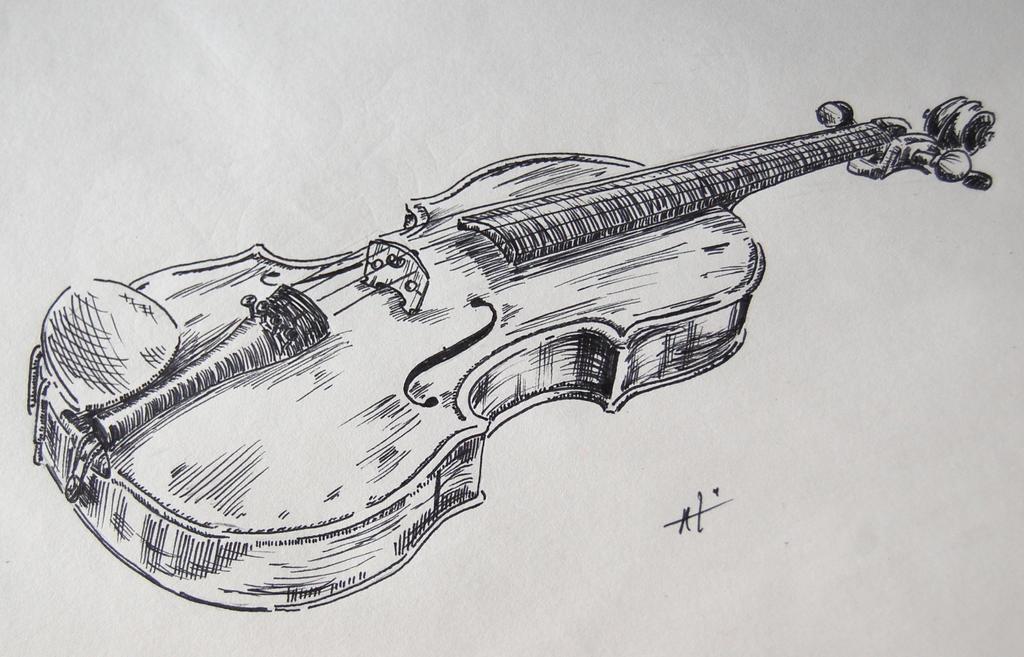 Скрипка рисунок фото