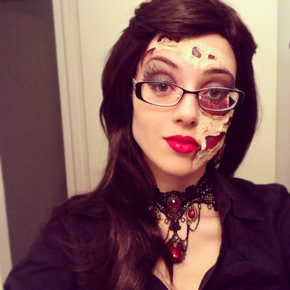 Halloween makeup Zombified Little Red Riding Hood by Herbizore on ...