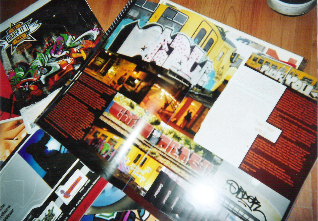 Graffiti magazines i had in 2011 by DeCloonOne