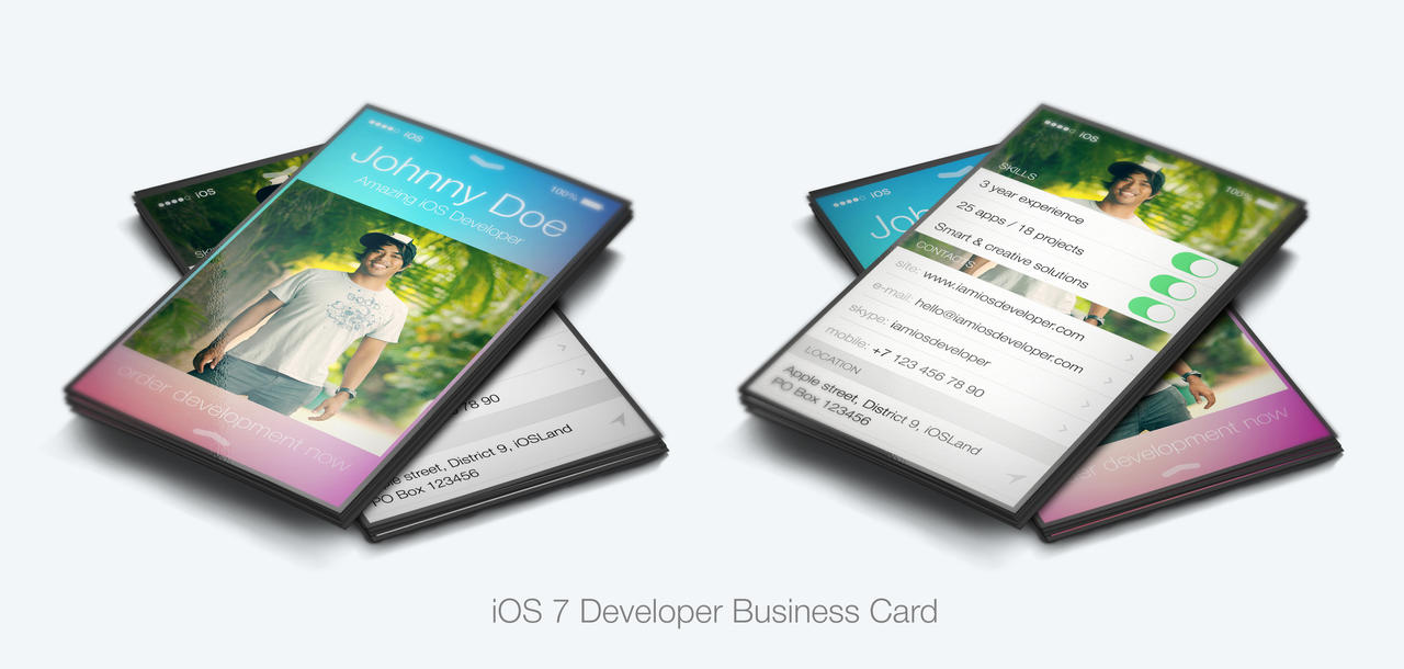 iOS 7 Developer Business Card by iamvinyljunkie on DeviantArt
