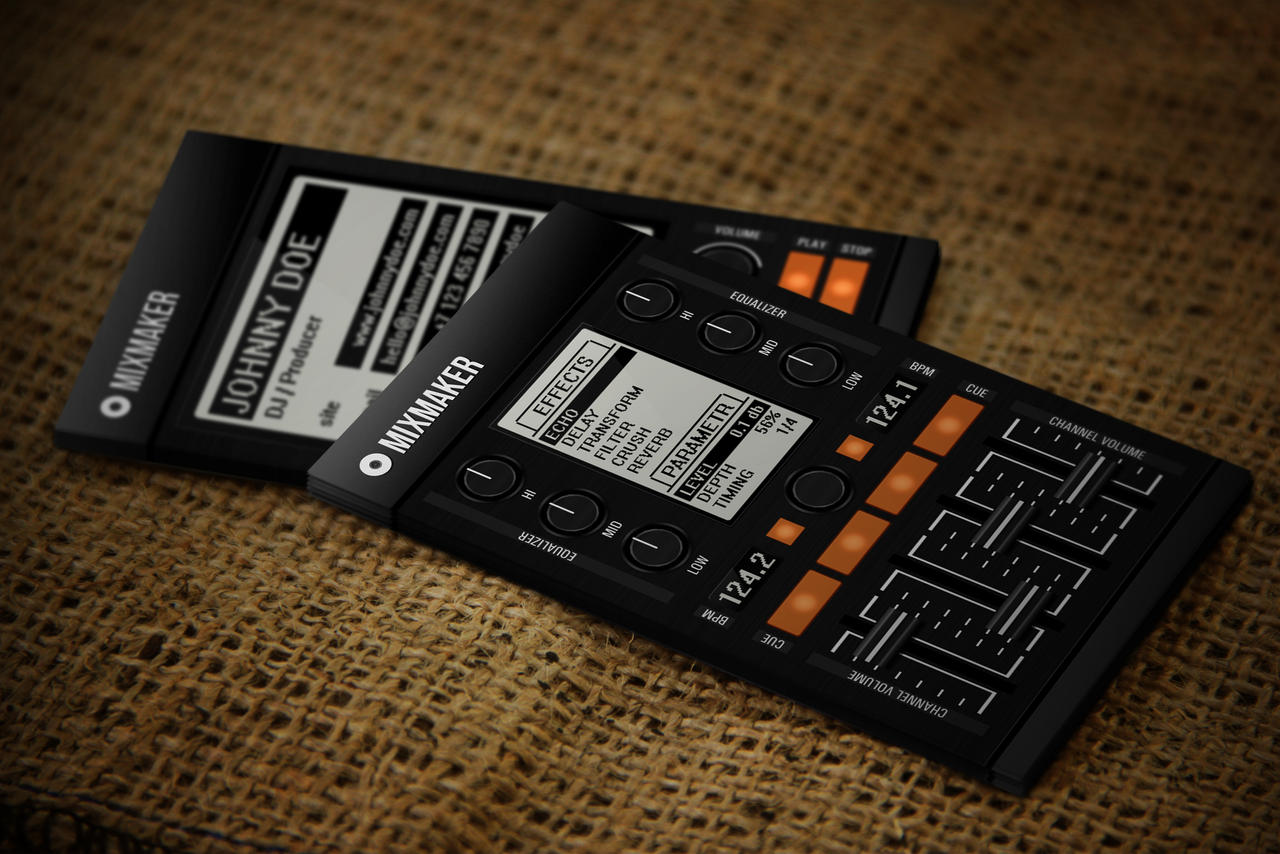 Pro Mixmaker DJ Business Card by iamvinyljunkie on DeviantArt