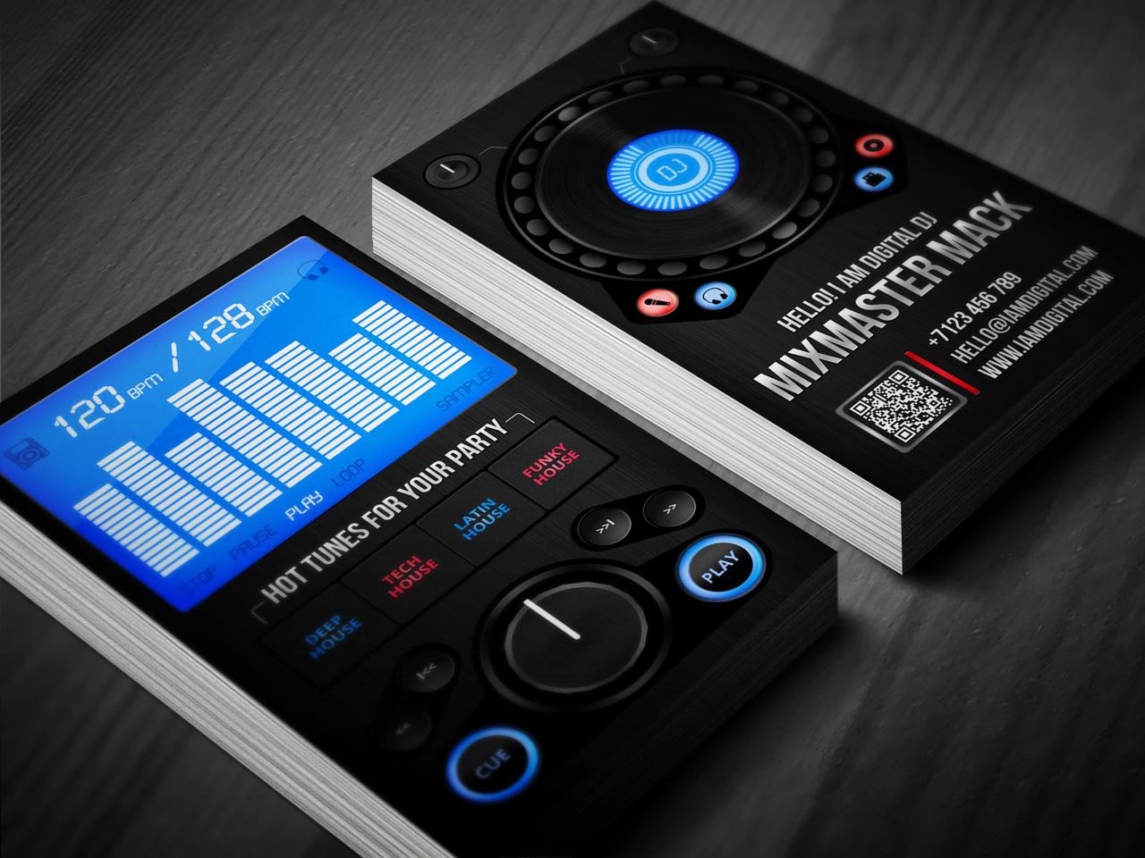 Digital Business Card : Digital dj business card by iamvinyljunkie on deviantart