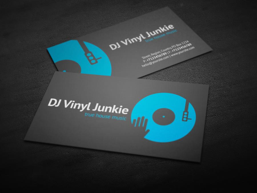 Vinyl DJ Business Card by iamvinyljunkie on DeviantArt