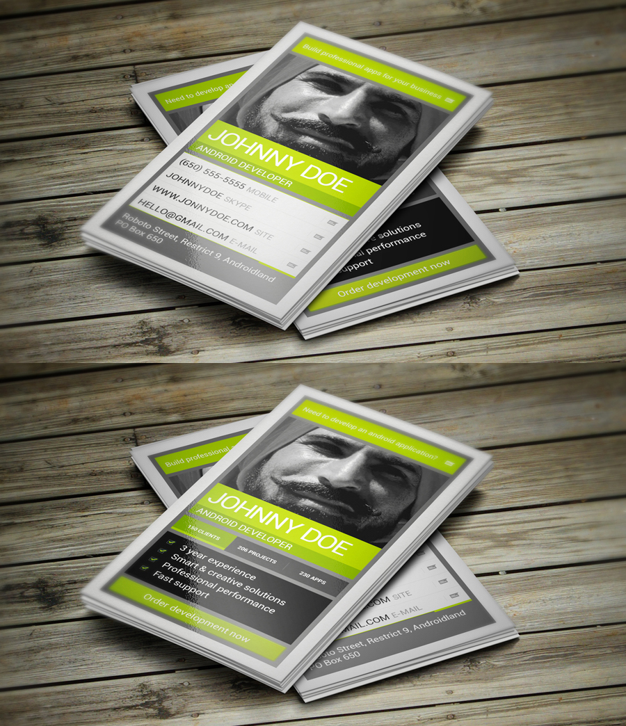 Android Developer Business Card by iamvinyljunkie on DeviantArt