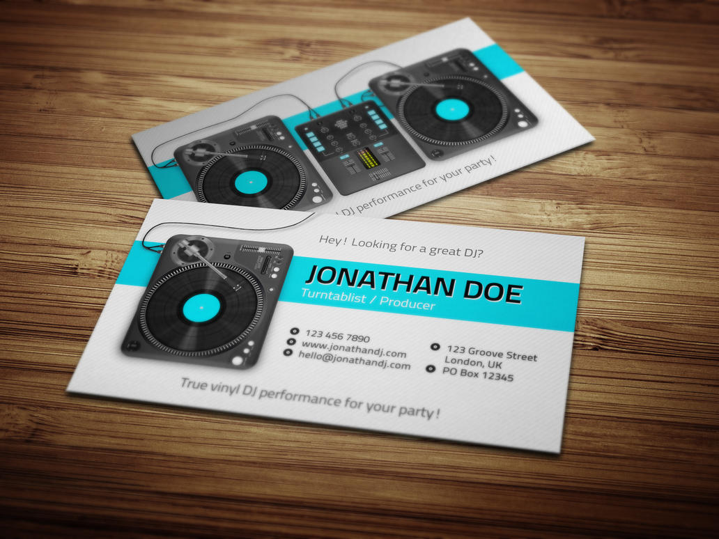 Turntablist Dj Business Card by iamvinyljunkie on DeviantArt