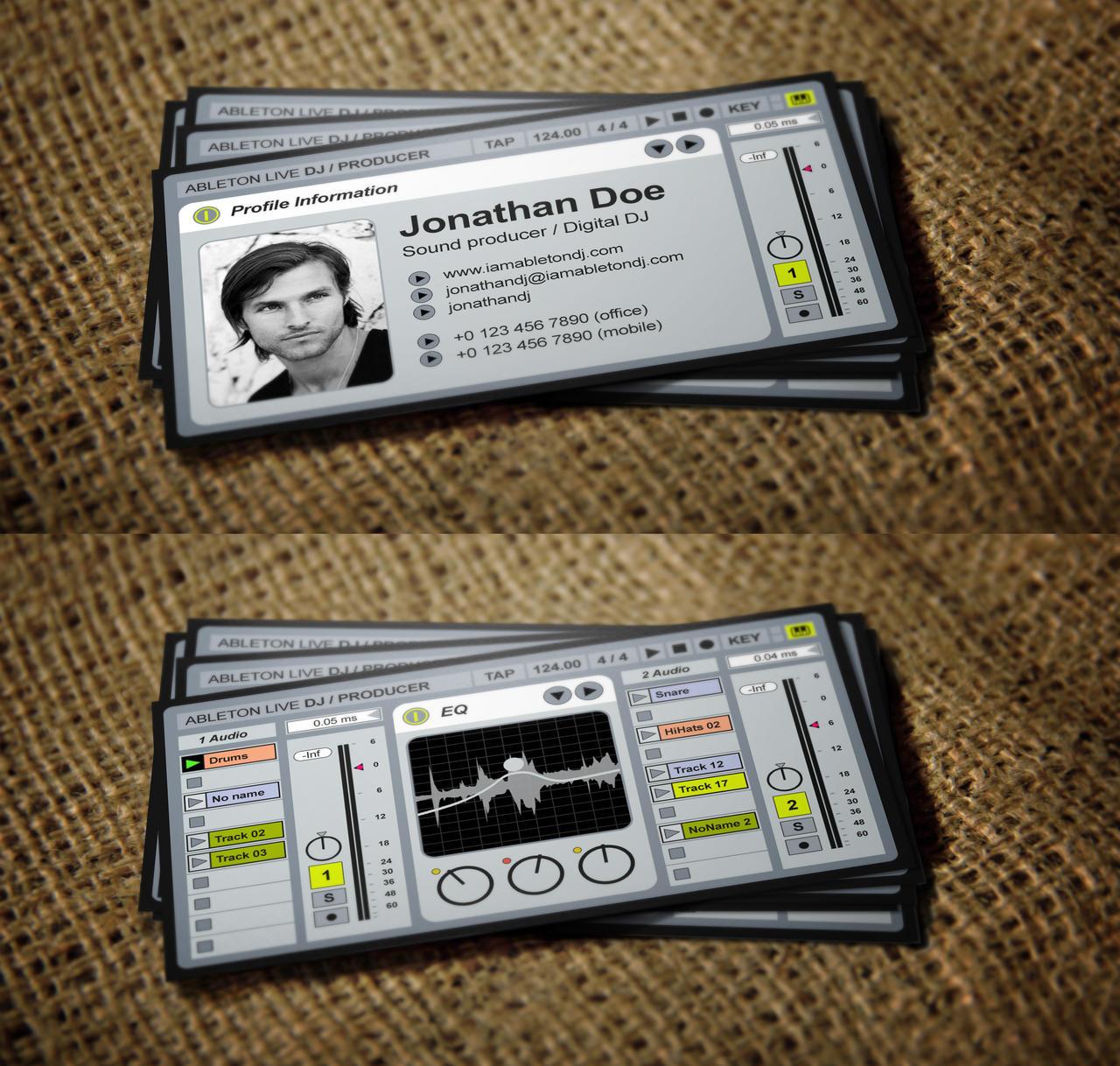 Djcard explore djcard on deviantart iamvinyljunkie 11 1 alive ableton live dj business card by iamvinyljunkie colourmoves