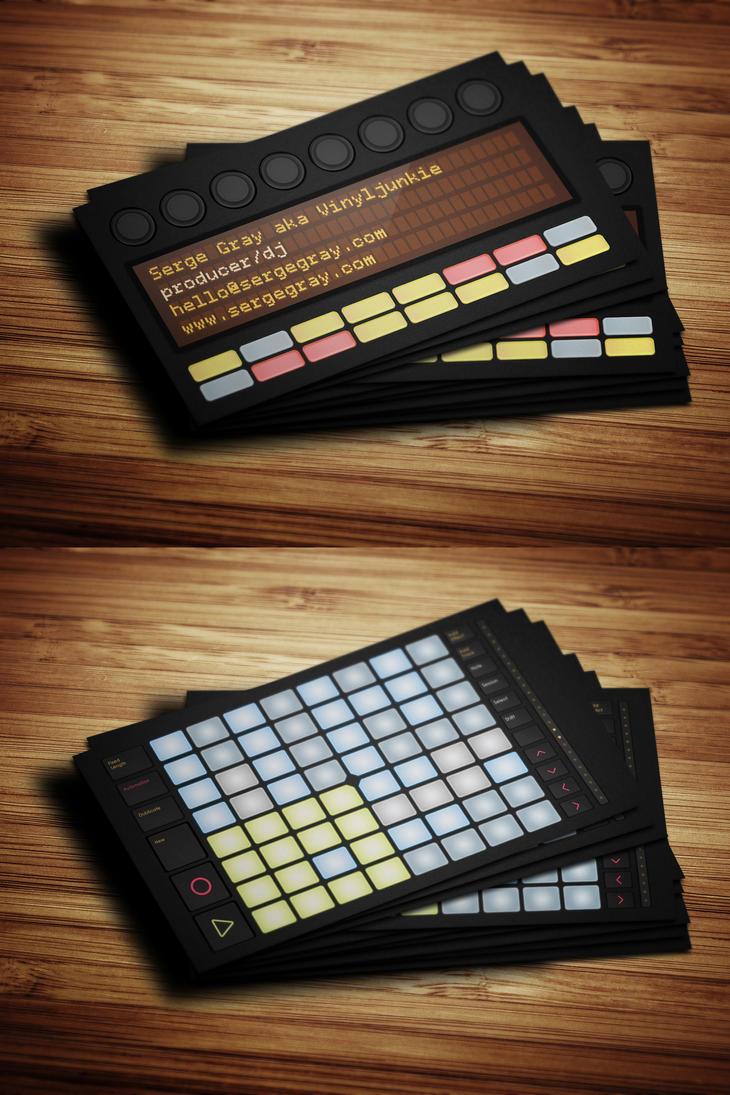 Ableton Push Producer Business Card by iamvinyljunkie on DeviantArt