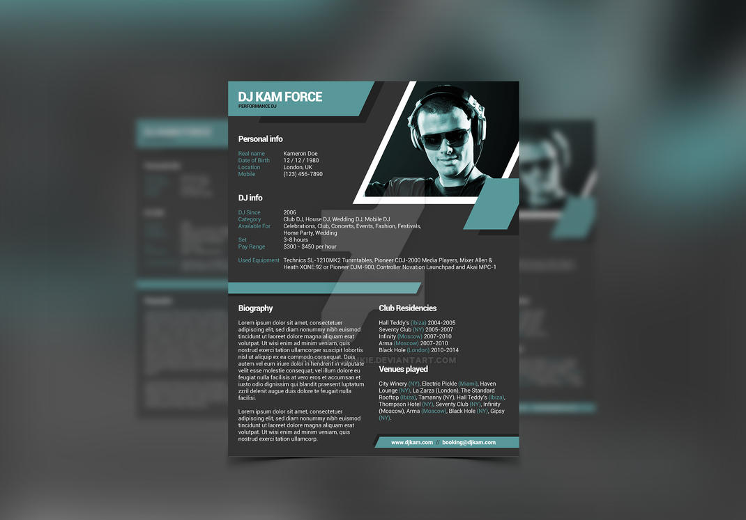 Minimalistix dj resume by iamvinyljunkie on deviantart for Dj biography template