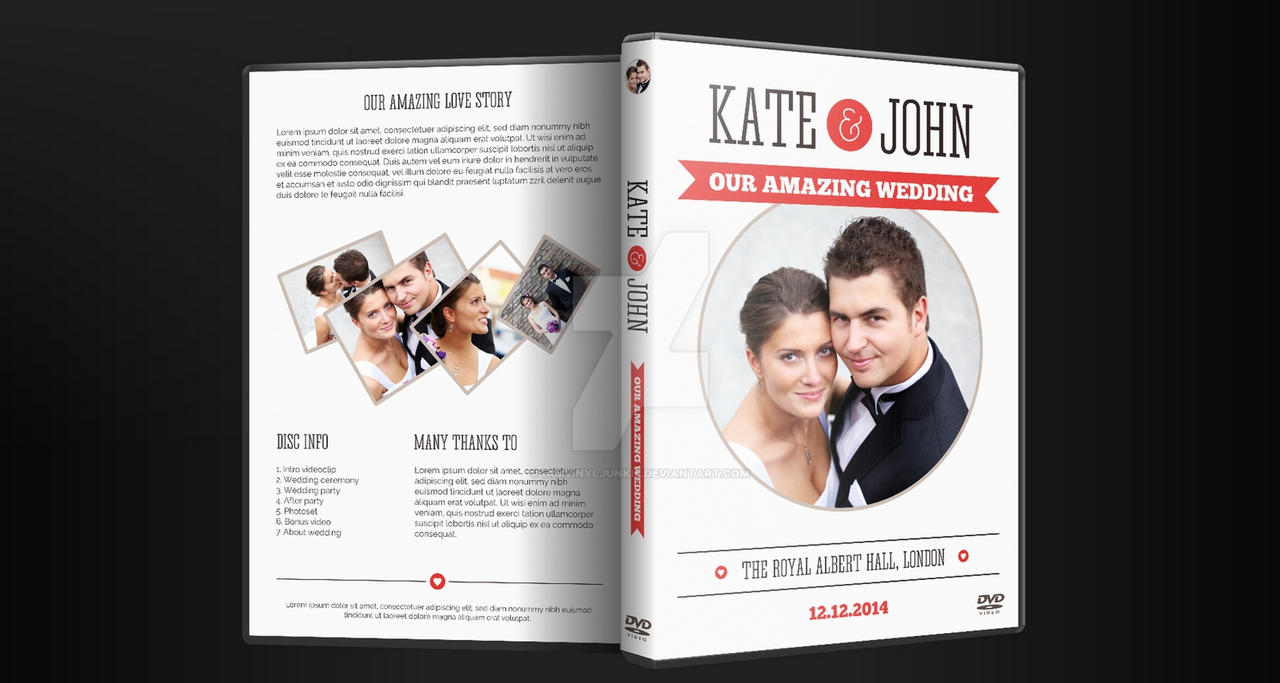 Wedding DVD Cover Artwork PSD with Disc Label by ...