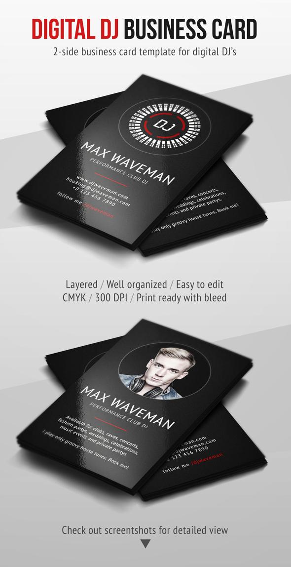 Digital dj business card psd template by iamvinyljunkie on for Dj business cards templates