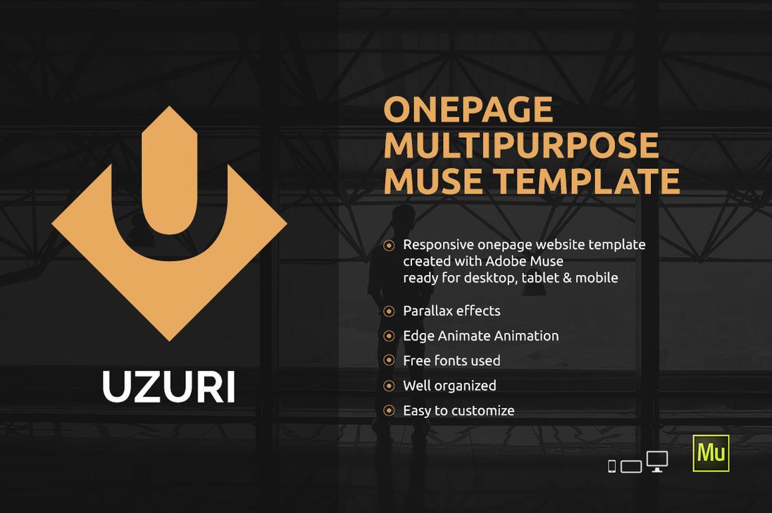 Uzuri - Onepage Multipurpose Adobe Muse template by iamvinyljunkie