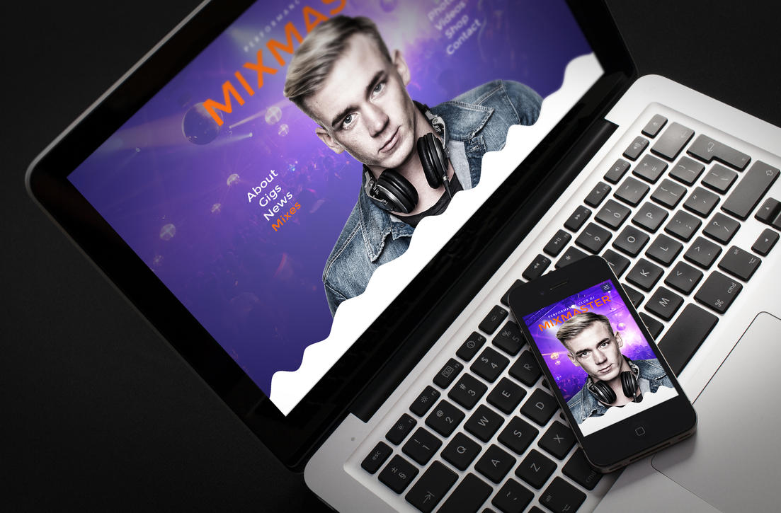 MixMaster - DJ / Producer Website Muse Template by iamvinyljunkie