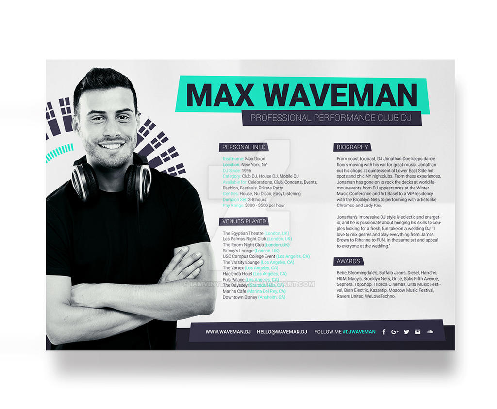 dj press kit template free dj resume layout