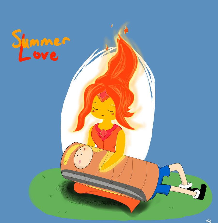 Finn and Flame Princess - Summer Love by Anime0Master