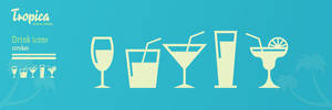Tropica - Drinks icon set by vlahall