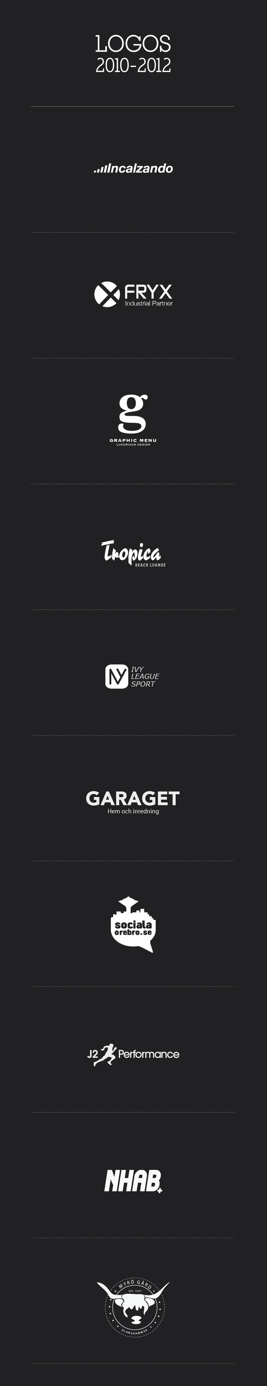 Logo collection 2010-2012 by vlahall