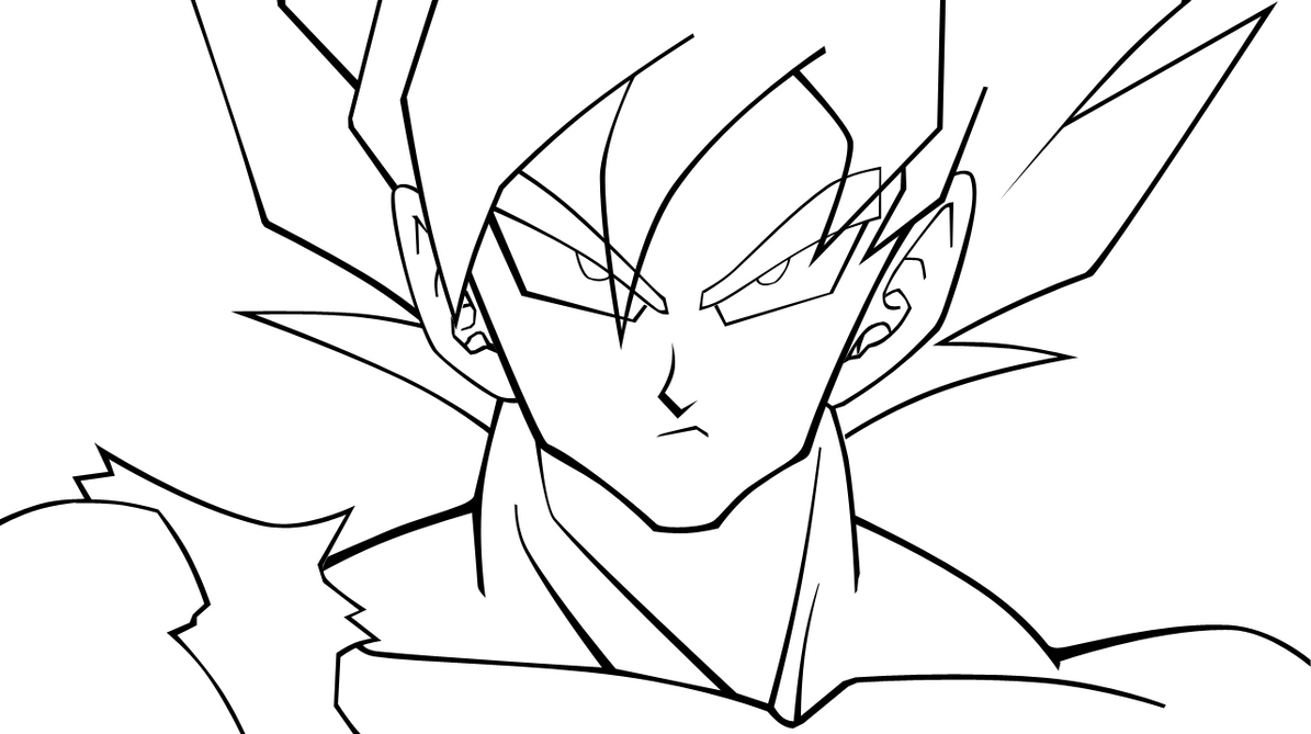 Dibujo De Goku Super Sayayin Dios Fase 5 Pintado Por En: Son Goku HD Lineart By ViGAL On DeviantArt