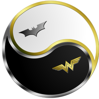 Batman Wonder Woman Yin Yang by Ares-81