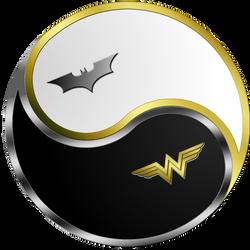 Batman Wonder Woman Yin Yang by Ares-81